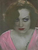 Pastel on photograph, 8 x 11. By Leslie Penn, 2004.