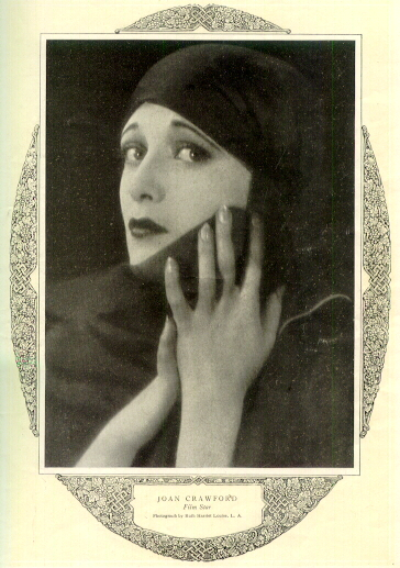 A page from 'Redbook' magazine, August 1926. Joan shot by Ruth Harriet Louise.