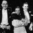 1931. With William Haines and husband Doug Fairbanks, Jr.
