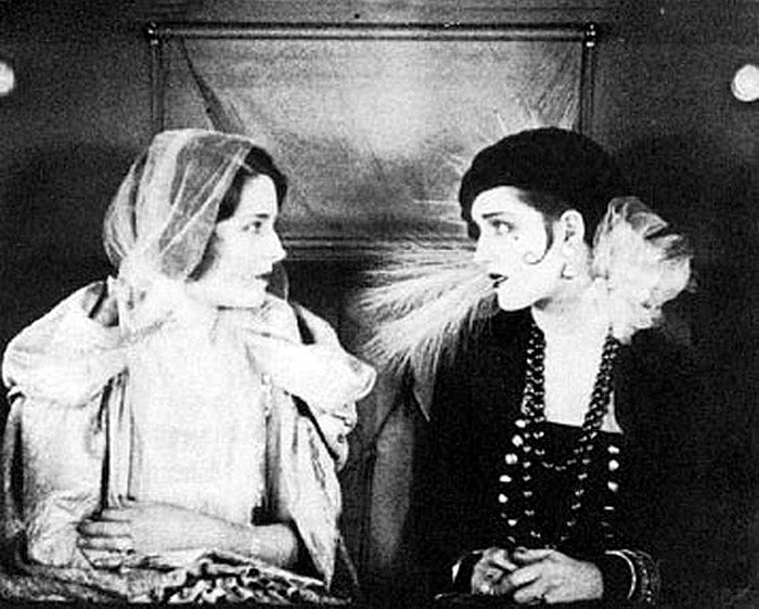 1925. As an uncredited double for Norma Shearer in 'Lady of the Night.'