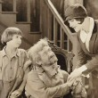 1925. 'Old Clothes.' With Jackie Coogan, left, and Max Davidson.