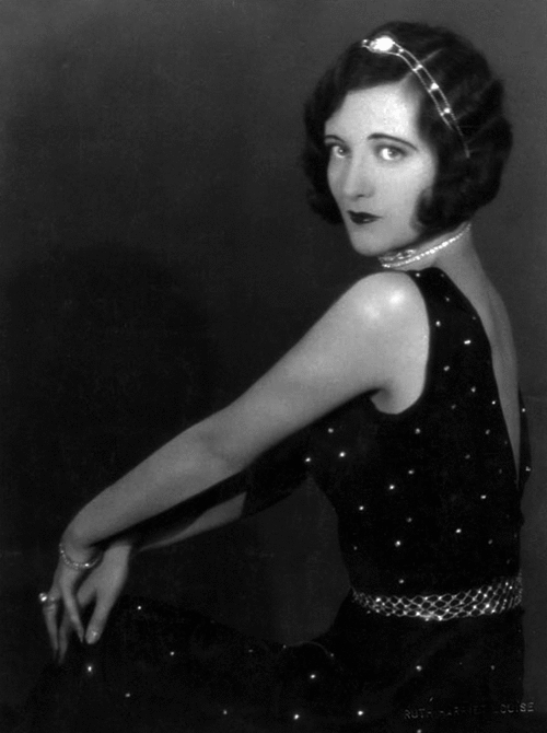 1926 publicity shot by Ruth Harriet Louise. (Thanks to Ann-Marie.)