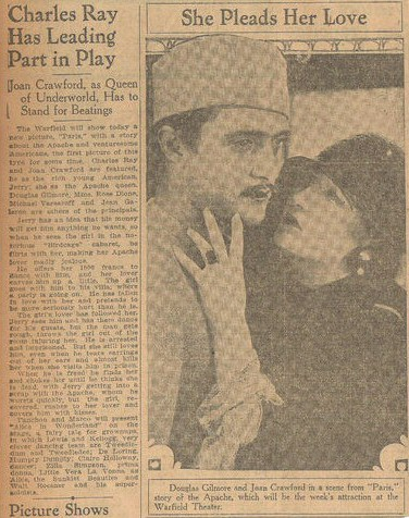 San Francisco publicity for 'Paris' at the Warfield Theater.