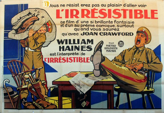 French movie poster. 63 x 94 inches.