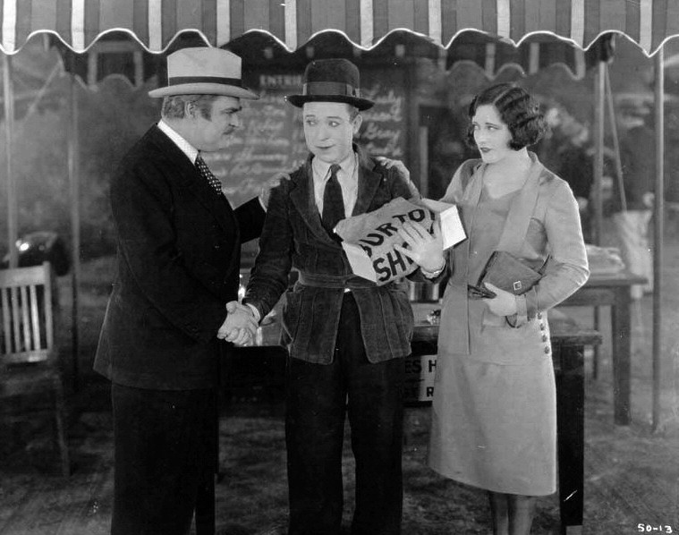 1926. 'Tramp, Tramp, Tramp.' With Harry Langdon (center).