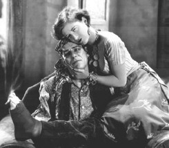 With Lon Chaney in 1927's 'The Unknown.'