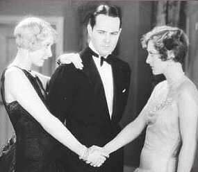 Joan with Gwen Lee and William Haines in 1929's 'The Duke Steps Out.'