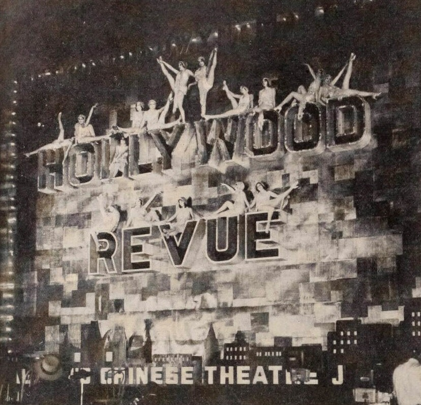 June 20, 1929. At the Grauman's Theater premiere of 'Hollywood Revue of 1929.'