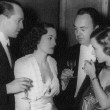 February 1936 at the Biltmore with Franchot, Gene Markey, Joan Bennett.