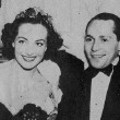 April 19, 1936. At the Beverly Wilshire Mayfair Ball with Mitchell Leisen, Virginia Bruce, and husband Franchot Tone.