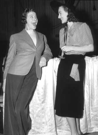 With Fanny Brice.