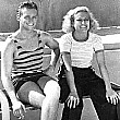 July 1931. Joan at home with husband Doug Fairbanks, Jr.
