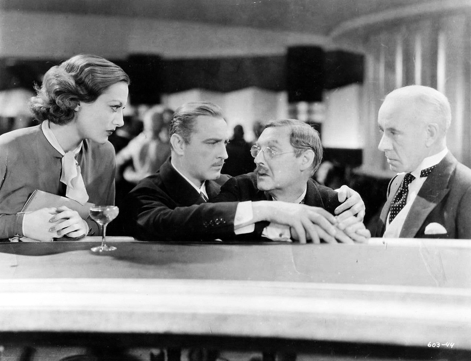 1932. 'Grand Hotel.' With John and Lionel Barrymore (center).