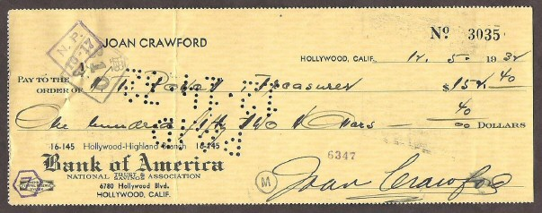A personal check from 1932.