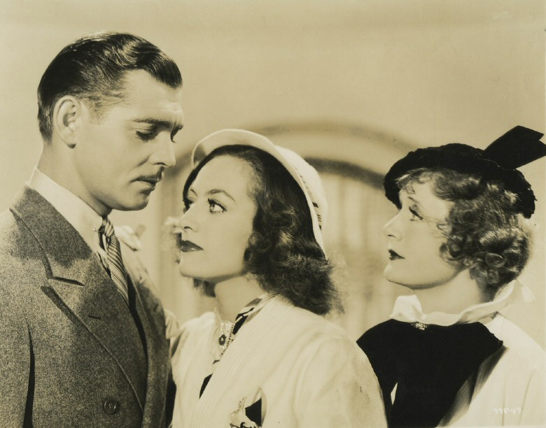 With Clark Gable and Billie Burke.