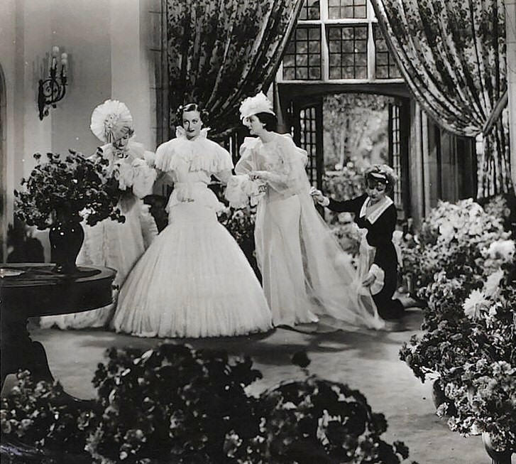 1934. 'Forsaking All Others.' With Billie Burke, left, and Rosalind Russell.