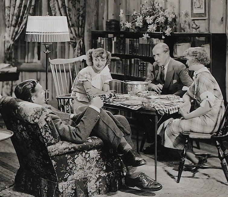 1934. 'Forsaking All Others.' With Gable, left, and Billie Burke, far right.