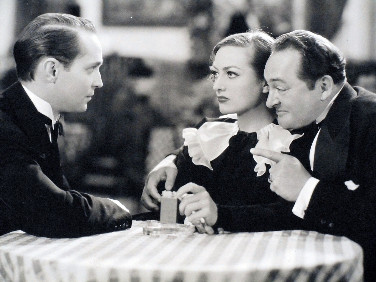 1934. 'Sadie McKee.' With Franchot Tone, left, and Edward Arnold.