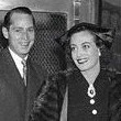 October 14, 1935. With new husband Franchot Tone at the Waldorf-Astoria, on their way to a CBS radio show.