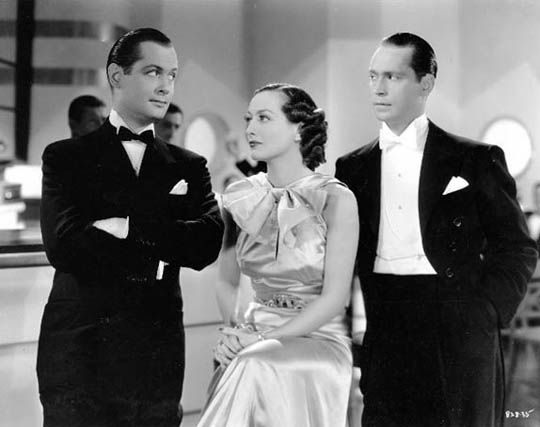 With Robert Montgomery, left, and Franchot Tone.