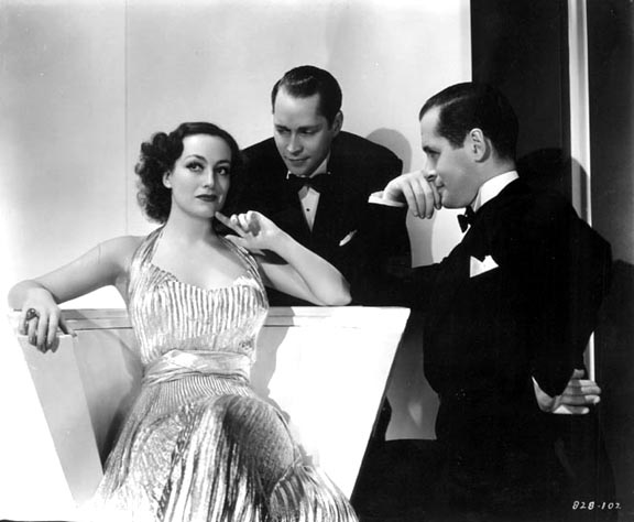 With Franchot Tone, center, and Robert Montgomery.