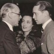 November 2, 1935. With Franchot Tone and his father, Frank J. Tone, at CBS for Franchot's 'Calvacade of America' guest spot.