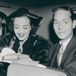 October 14, 1935, with Franchot Tone in NYC, 3 days after their wedding.