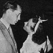 7/27/36. Rehearsing with Franchot Tone for the Lux radio broadcast of 'Chained.'