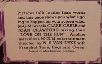 Close-up of flyer blurb.
