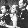 1937. 'The Bride Wore Red.' With Robert Young, left, and Franchot Tone.