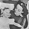 1937. On the set of 'The Last of Mrs. Cheyney' with niece Joan LeSueur.