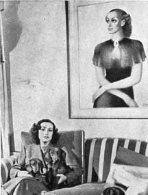 A 1937 shot of Joan's home; painting by Edward Biberman.