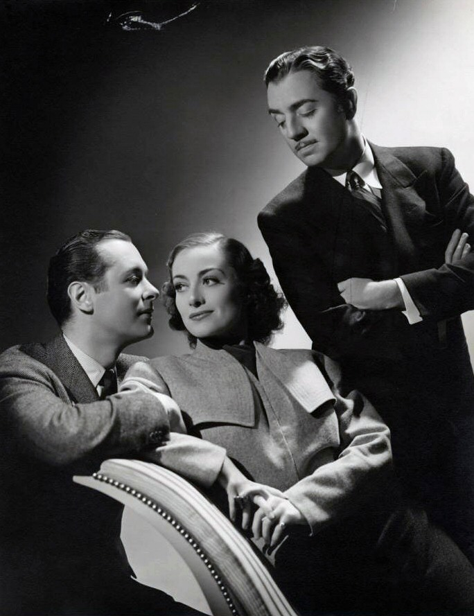 1937. 'The Last of Mrs. Cheyney.' With Robert Montgomery, left, and William Powell.