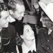 1937. At a Halloween party with Robert Taylor, Franchot Tone, Barbara Stanwyck.