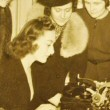 April 1938. At Joan's Waldorf suite with members of the NYC Newspaper Women's Club, gathered for the annual Front Page Ball.