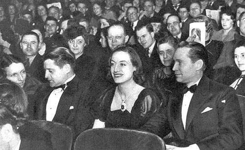 Feb. 1938. Joan and Franchot attend 'The Women' in NYC.
