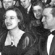 February 1938. Joan and husband Franchot Tone attend 'The Women' in NYC.