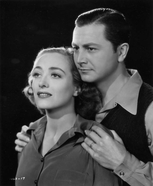 1938. Publicity for 'The Shining Hour,' with Robert Young. (Thanks to Susanne.)