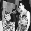 With Hedda Hopper on the set of 'The Women.'