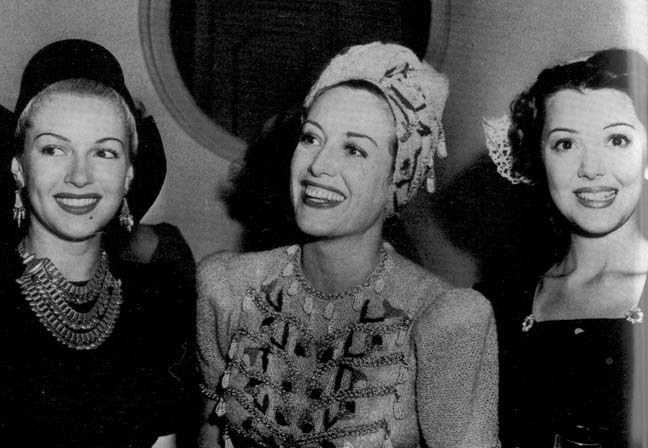 1939. With Lana Turner and Ann Rutherford.