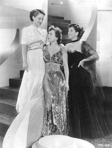 With Norma Shearer and Rosalind Russell.