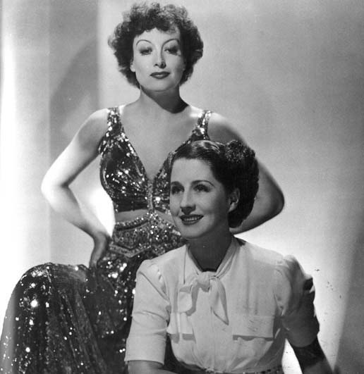 With Norma Shearer.