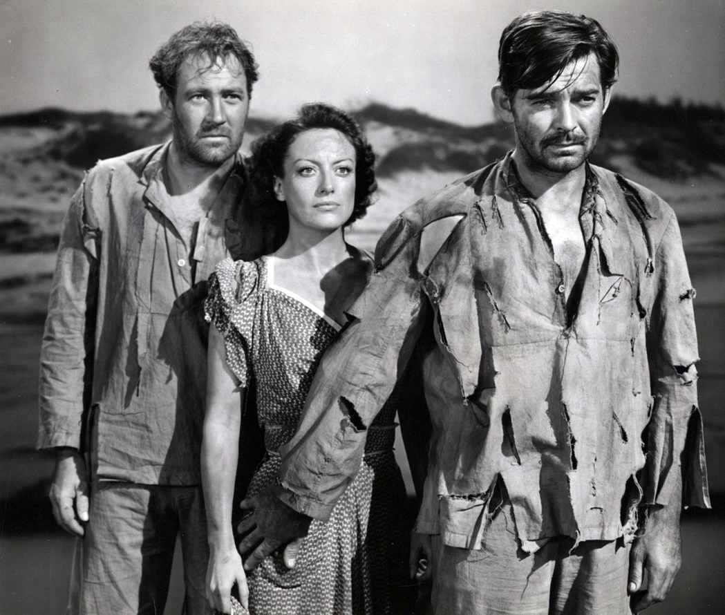 1940. 'Strange Cargo.' With Ian Hunter, left, and Clark Gable.