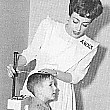 1943. Joan works for the American Women's Voluntary Services.