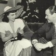 On the set of 'When Ladies Meet' with Herbert Marshall.