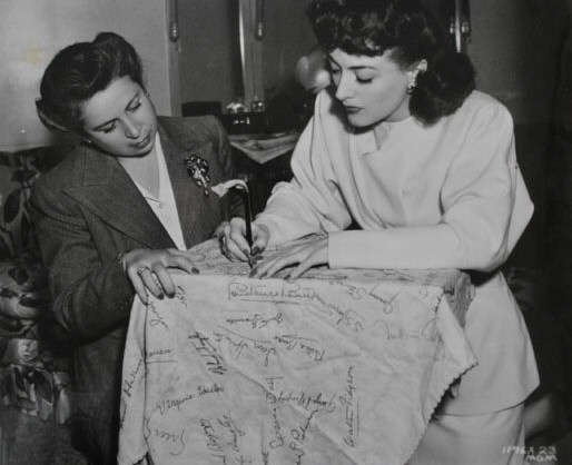 1941. 'When Ladies Meet.' An autograph for her wardrobe woman.