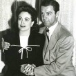 1942. With husband Phillip Terry.