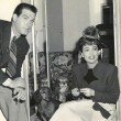 On the set of 'Above Suspicion' with Fred MacMurray.