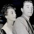 July 1945. With husband Phillip Terry at the Beverly Wilshire hotel.