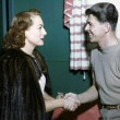 1946. On the set of 'Humoresque' with Ronald Reagan.